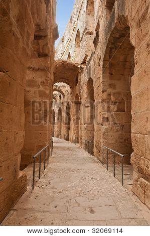Famous ancient Roman Amphitheater El Jem, Tunisia