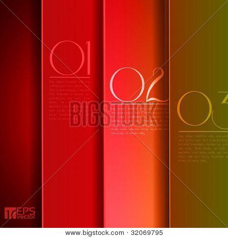 Design Grafik oder Website Layout Vektor rot, grün und gelb
