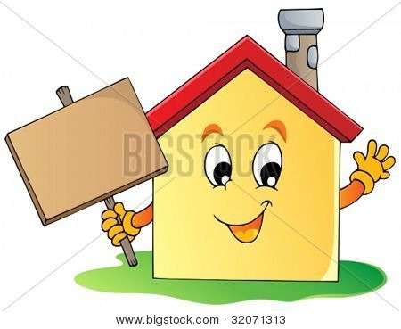 House theme image 2 - vector illustration.