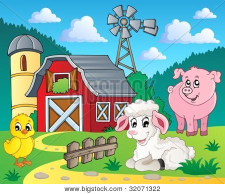 Farm theme image 5 - vector illustration.