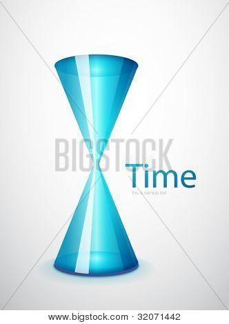 Hi-tech hourglass concept