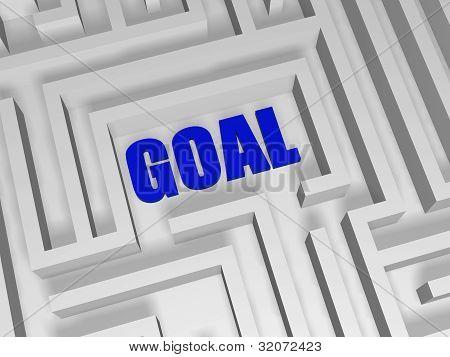 Blue Goal In Labyrinth