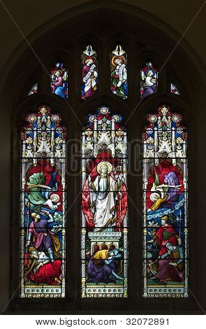 Resurrection Stained Glass Window