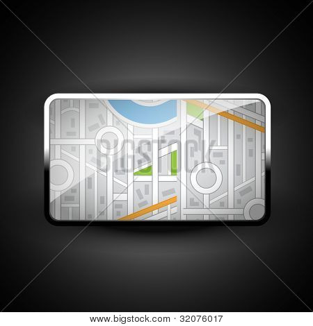 stylish vector city map icon illustration