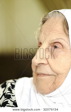 Senior aged old mature woman
