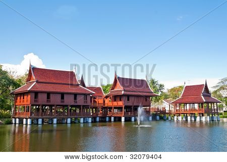 the house in Thai style