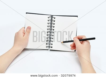 Pencil and note book