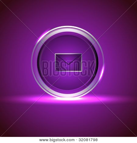 Isolated website and internet web 2.0 icon for new message or unread message with mail or message symbol. EPS 10. Vector illustration.
