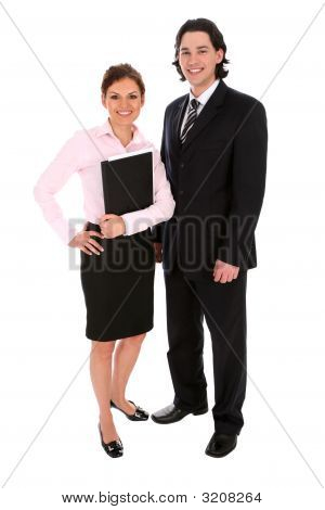 Two Young Office Workers