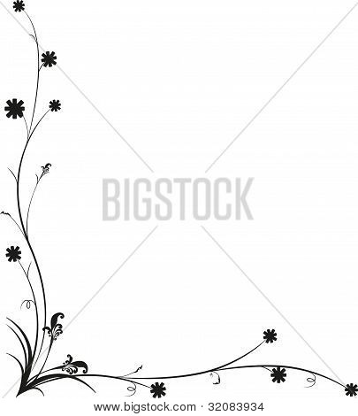The art work design Vintage Floral Frame, rich ornate, vector.