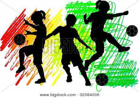 Soccer Silhouettes Kids Boys and Girls