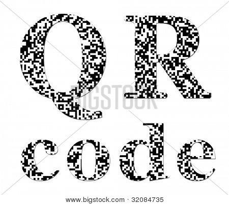 QR code textured inscription