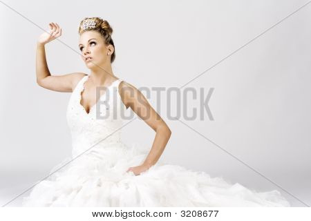 Bride Sitting On The Floor