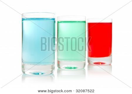 Row Of Colorful Shots