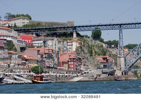 Porto And Dom Luis Bridge.
