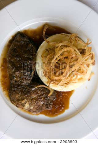 Veal Liver, Mashed Potaotes