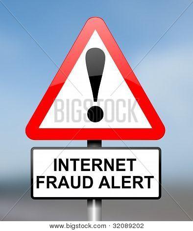 Conceito de fraude de Internet.
