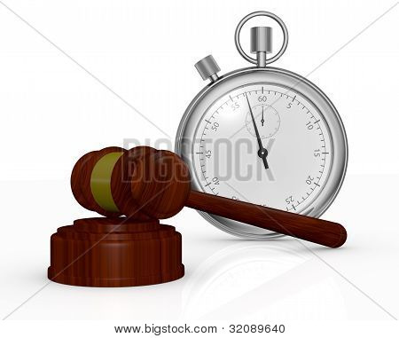 Gavel And Stopwatch