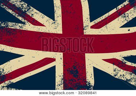 Grunge Union Jack Vector
