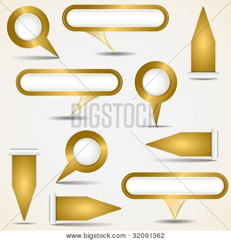 Set Of Gold Pointers