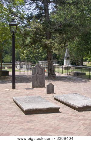 Cemetery At Bruton Parish Church In Williamsburg, Virginia