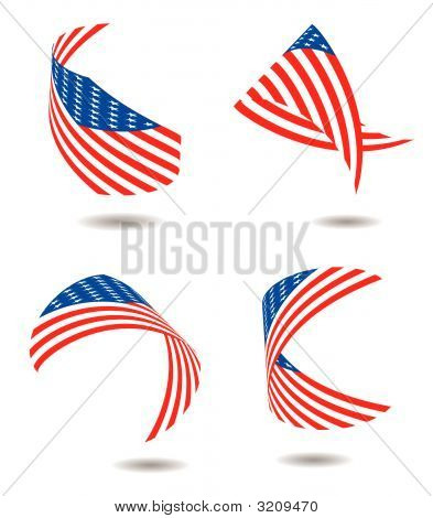 Us Flag Ribbon