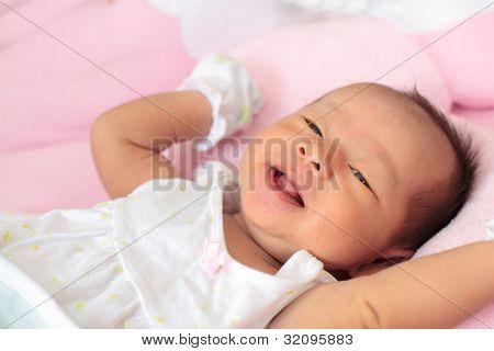 Infant Female Smiling Face