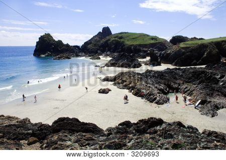 Kynance Cove Landscape In Cornwall