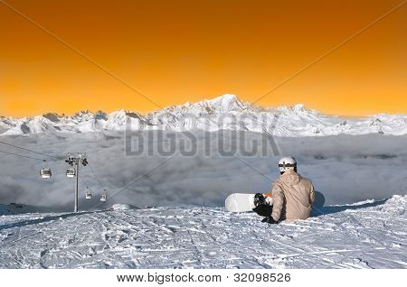Skiers Ready To Ride, Courchevel, France