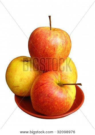 nice apples on the plate