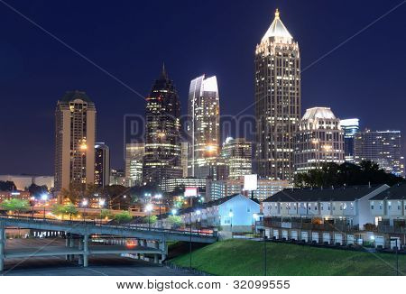 Midtown Atlanta, Georgia Skyline