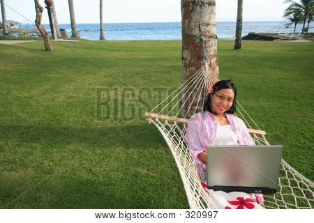 Businesswoman On Vacation