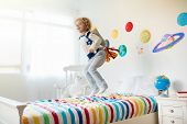 Kids Play Astronaut. Space And Planet Child Game. poster