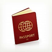 stock photo of passport cover  - Passport - JPG