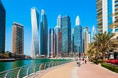 Dubai Marina Is An Artificial Canal City And A District In Dubai In Uae poster