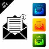 Received Message Concept. Envelope Icon Isolated. New, Email Incoming Message, Sms. Mail Delivery Se poster