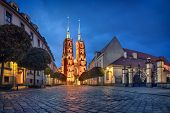 Wroclaw, Poland. View Of Cathedral Of St. John The Baptist At Dusk (hdr Image) poster