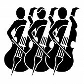 Musician Orchestra Icon. Simple Illustration Of Musician Orchestra Vector Icon For Web Design Isolat poster