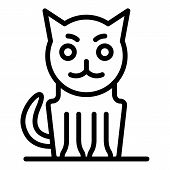 Sick Cat Icon. Outline Sick Cat Vector Icon For Web Design Isolated On White Background poster