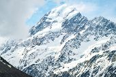 The Spectacular Peaks Of The Aoraki / Mount Cook The Highest Mountains Peak In New Zealand. poster
