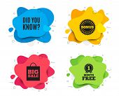 Did You Know. Liquid Shape, Various Colors. Special Offer Question Sign. Interesting Facts Symbol. G poster