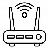 Security Wifi Router Icon. Outline Security Wifi Router Vector Icon For Web Design Isolated On White poster