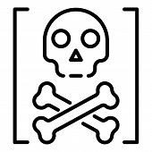 Death Hacker Attack Icon. Outline Death Hacker Attack Vector Icon For Web Design Isolated On White B poster