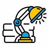 Led Desktop Light Icon. Outline Led Desktop Light Vector Icon For Web Design Isolated On White Backg poster