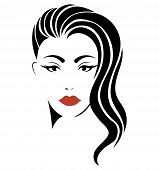 Portrait Of A Girl. Head Of A Beautiful Girl. Face Of A Young Woman With A Female Hairdo. Logo For T poster