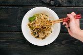 Dandan Noodles On Chopsticks. poster