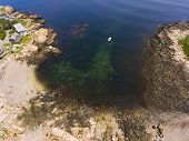 Top View Of Straitsmouth Cove Landing, Rockport, Cape Ann, Massachusetts, Usa. poster