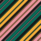 Stripes Seamless Pattern. Simple Vector Texture With Thin And Thick Diagonal Lines. Modern Abstract  poster