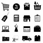image of delivery-truck  - Shopping and ecommerce icon set in black - JPG
