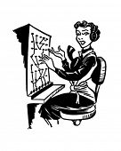 Switchboard Operator - Retro Clipart Illustration